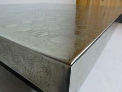 Heinz Lilienthal Etched Metal Coffee Table by Heinz Lilienthal - 388065