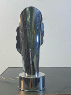 Helen Dryden MODERNIST ART DECO CHROME STYLIZED MASQUE LAMPS - 1963602