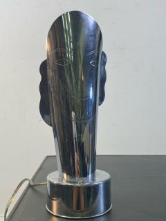 Helen Dryden MODERNIST ART DECO CHROME STYLIZED MASQUE LAMPS - 1963604
