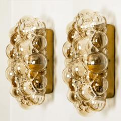 Helena Tynell 1 of 6 Helena Tynell Amber Bubble Wall Sconces 1960s - 1337072