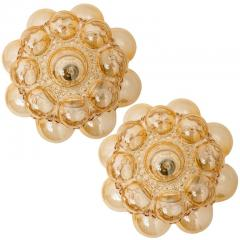 Helena Tynell 1 of the 12 Helena Tynell Amber Bubble Flushmounts Wall Sconces 1960s - 1314891