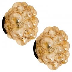 Helena Tynell 1 of the 12 Helena Tynell Amber Bubble Flushmounts Wall Sconces 1960s - 1314892
