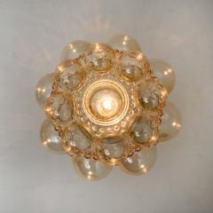 Helena Tynell 1 of the 12 Helena Tynell Amber Bubble Flushmounts Wall Sconces 1960s - 1314893