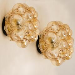 Helena Tynell 1 of the 12 Helena Tynell Amber Bubble Flushmounts Wall Sconces 1960s - 1314900