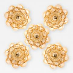 Helena Tynell 1 of the 12 Helena Tynell Amber Bubble Flushmounts Wall Sconces 1960s - 1318608