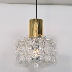 Helena Tynell Pair of Beautiful Bubble Glass Pendant Lamps by Helena Tynell 1960 - 1318525