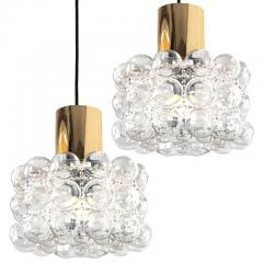 Helena Tynell Pair of Beautiful Bubble Glass Pendant Lamps by Helena Tynell 1960 - 1318537