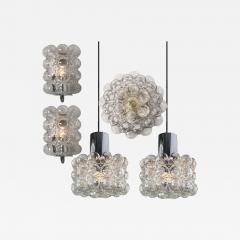 Helena Tynell Set of Four Bubble Glass Fixtures Designed by Helena Tynell for Glash tte - 977434