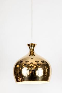 Helge Zimdal 1960s Brass Onion Pendants by Helge Zimdal for Falkenberg - 1081097