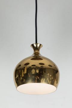 Helge Zimdal 1960s Brass Perforated Onion Pendants by Helge Zimdal for Falkenberg - 524623