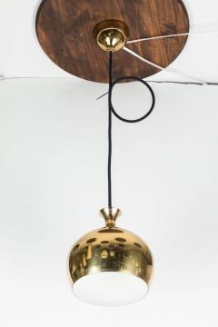 Helge Zimdal 1960s Brass Perforated Onion Pendants by Helge Zimdal for Falkenberg - 524624