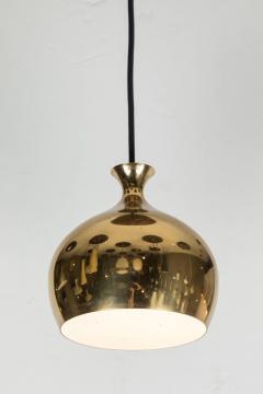 Helge Zimdal 1960s Brass Perforated Onion Pendants by Helge Zimdal for Falkenberg - 524625