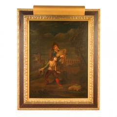 Hendrick Frans Diamer Hendrick Frans Diamer Flemish c 1690 1770 A piper and his companion  - 2129037