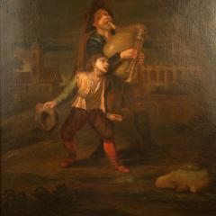 Hendrick Frans Diamer Hendrick Frans Diamer Flemish c 1690 1770 A piper and his companion  - 2129161