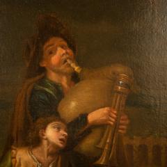Hendrick Frans Diamer Hendrick Frans Diamer Flemish c 1690 1770 A piper and his companion  - 2129171