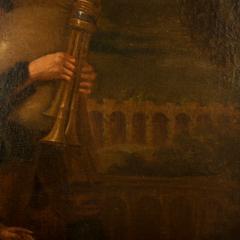 Hendrick Frans Diamer Hendrick Frans Diamer Flemish c 1690 1770 A piper and his companion  - 2129173