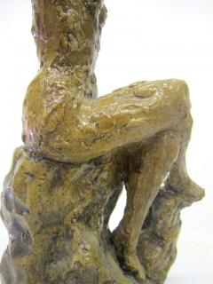 Hendrik Grise Ceramic Sculpture of a Bathing Female by Hendrick Grise - 223480