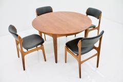 Henning Kjaernulf Henning Kjaernulf Dining Table in Teak Model 62 Sor Stolefabrik in Denmark 1958 - 646133