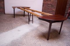 Henning Kjaernulf Large Rosewood and Brass Extension Dining Table by Henning Kj rnulf for Sor  - 1093064