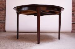 Henning Kjaernulf Large Rosewood and Brass Extension Dining Table by Henning Kj rnulf for Sor  - 1093083