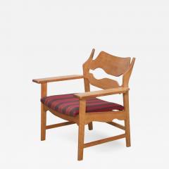 Henning Kjaernulf Oak Razor Back Lounge Chair by Henning Kjaernulf - 526384