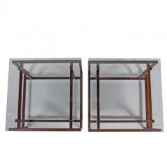 Henning N rgaard Pair of Rosewood Side Tables by Henning N rgaard for Komfort - 1891244