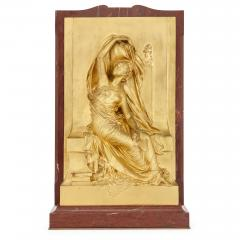 Henri Chapu La Pens e antique French ormolu relief panel by Chapu - 1924861