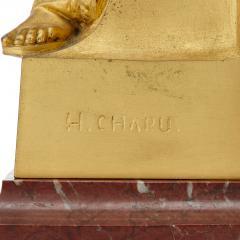 Henri Chapu La Pens e antique French ormolu relief panel by Chapu - 1924862