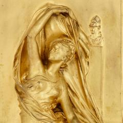 Henri Chapu La Pens e antique French ormolu relief panel by Chapu - 1924863