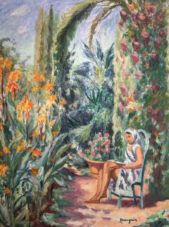 Henri Charles Manguin Odette dans le jardin de l Oustalet - 1816801