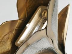 Henri Fernandez French hollywood regency brass nickel floor lamp Henri Fernandez 1970s - 983459