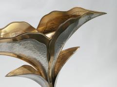 Henri Fernandez French hollywood regency brass nickel floor lamp Henri Fernandez 1970s - 983460