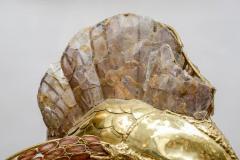 Henri Fernandez Unique Brass Mica and Marble Swordfish Lightning Sculpture - 729443