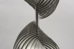 Henri Mathieu Rare Stainless Steel lamp By Henri Mathieu - 1468007