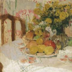 Henriette Amiard Oberteuffer Still Life with Fruit and Flowers c 1920 - 75031