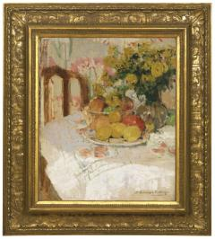 Henriette Amiard Oberteuffer Still Life with Fruit and Flowers c 1920 - 75035