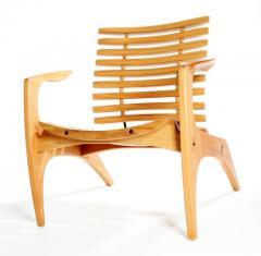 Henrique Canelas Contemporary Ella Chair by Brazilian Designer Henrique Canelas in wood - 1227633