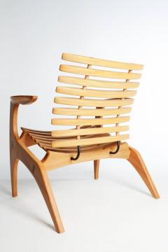 Henrique Canelas Contemporary Ella Chair by Brazilian Designer Henrique Canelas in wood - 1227635