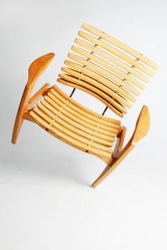 Henrique Canelas Contemporary Ella Chair by Brazilian Designer Henrique Canelas in wood - 1227636