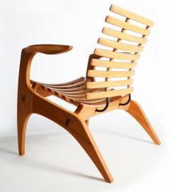 Henrique Canelas Contemporary Ella Chair by Brazilian Designer Henrique Canelas in wood - 1227637