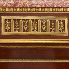 Henry Dasson 19th Century gilt bronze mahogany and marble cabinet by Dasson - 1481562