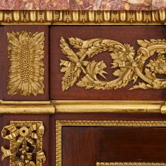 Henry Dasson 19th Century gilt bronze mahogany and marble cabinet by Dasson - 1481567