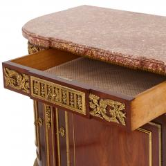Henry Dasson 19th Century gilt bronze mahogany and marble cabinet by Dasson - 1481569