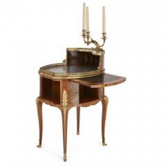 Henry Dasson Gilt bronze mounted tulipwood sycamore and marquetry writing table by Dasson - 1274291