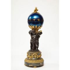 Henry Dasson Henry Dasson a French Gilt and Patinated Bronze Marble and Enamel Annular Clock - 1202237