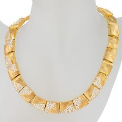 Henry Dunay American Gold Necklace with diamonds by Henry Dunay - 917498