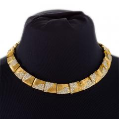 Henry Dunay American Gold Necklace with diamonds by Henry Dunay - 917499
