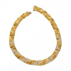 Henry Dunay American Gold Necklace with diamonds by Henry Dunay - 919191