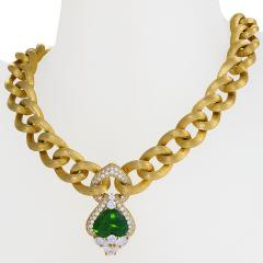 Henry Dunay Gold Necklace with Peridot and Diamonds by Henry Dunay - 1066401