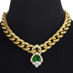 Henry Dunay Gold Necklace with Peridot and Diamonds by Henry Dunay - 1066402